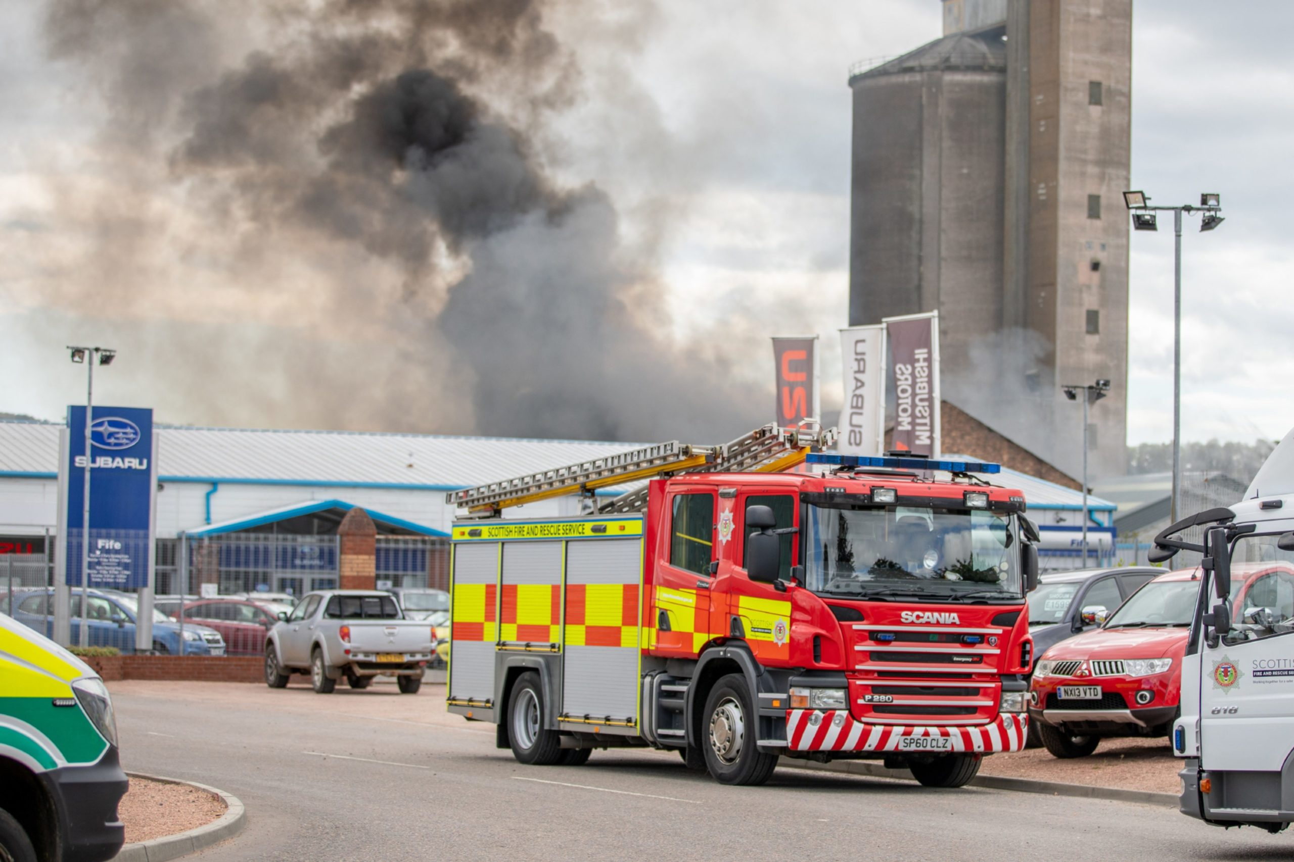 Fire crews were called to Aberhill Metals, which is a stone's throw from Gray Fabrication, on July 21.