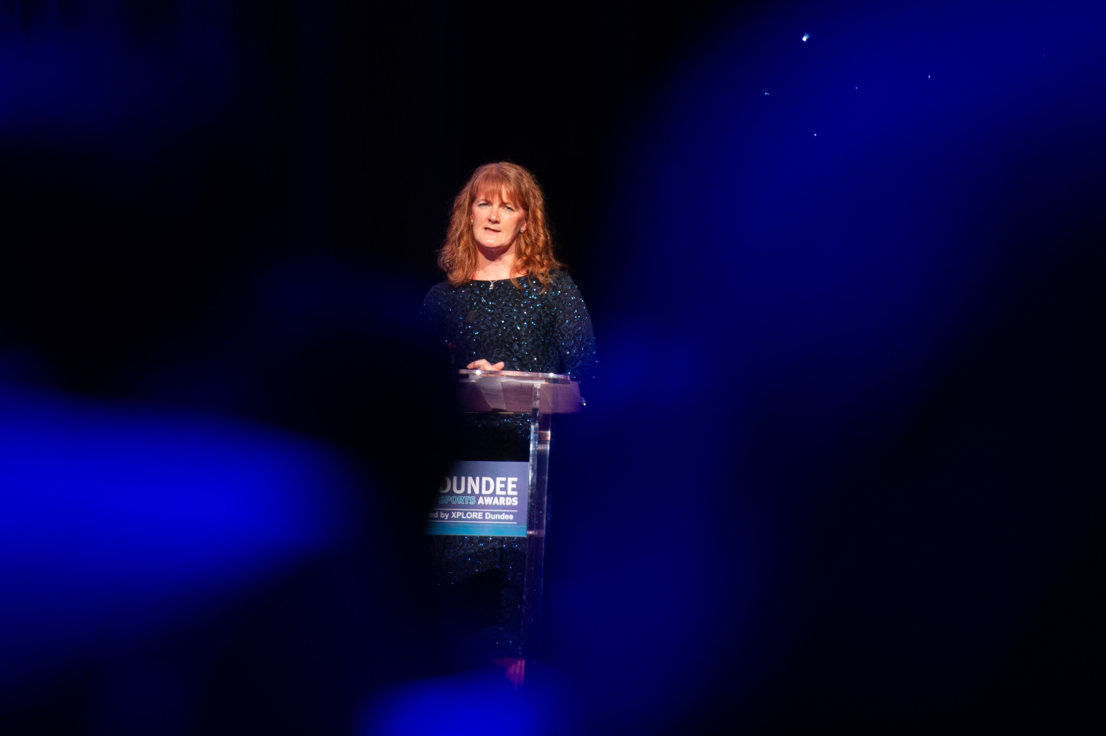 Christine McGlasson at the Dundee Sports Awards in February.