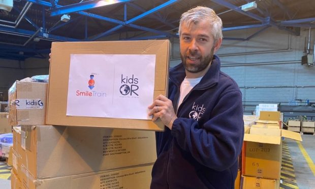 Kids Operating Room's Scott McIntyre at the charity's Dundee warehouse.