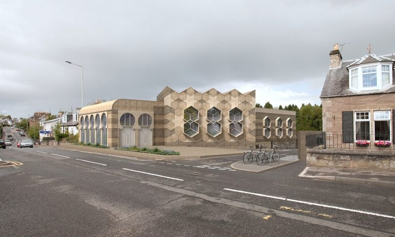 Artist impression of how the new mosque could look.