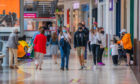 Shoppers at the reopening Overgate Shopping Centre in Dundee
