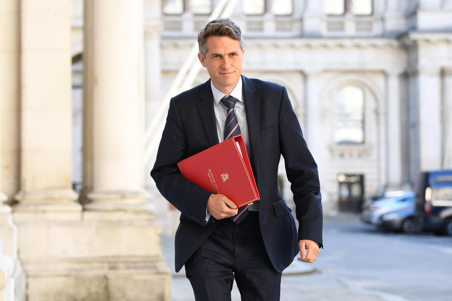 Secretary of State for Education Gavin Williamson arrives at the Foreign and Commonwealth Office (FCO) in London, ahead of a Cabinet meeting to be held at the FCO, for the first time since the lockdown.
