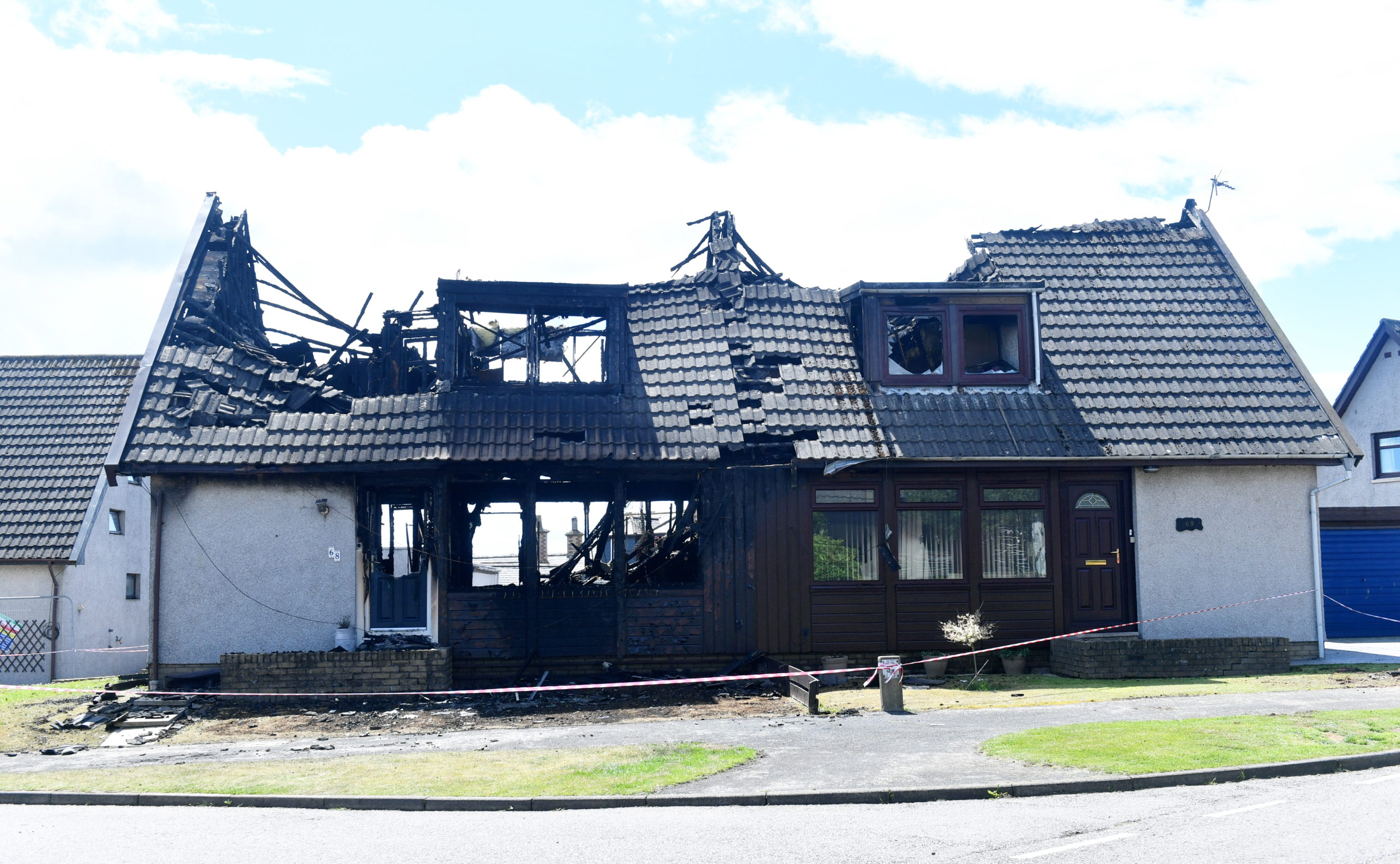 CR0022222 Picture from the house fire on Invergarry Park St Cyrus. Pic by....Chris Sumner Taken...............5/7/2020.