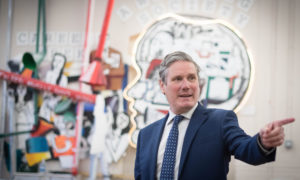 Labour Leader Keir Starmer visits Torriano School in Camden, north London.