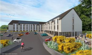Blueprints had been submitted for a three-story Premier Inn in Pitlochry.