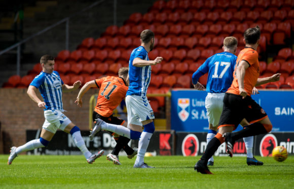 Cammy Smith opens the scoring for Dundee United.