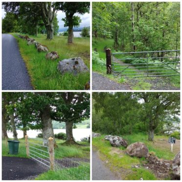 Extra barriers have been installed to deter wild campers.