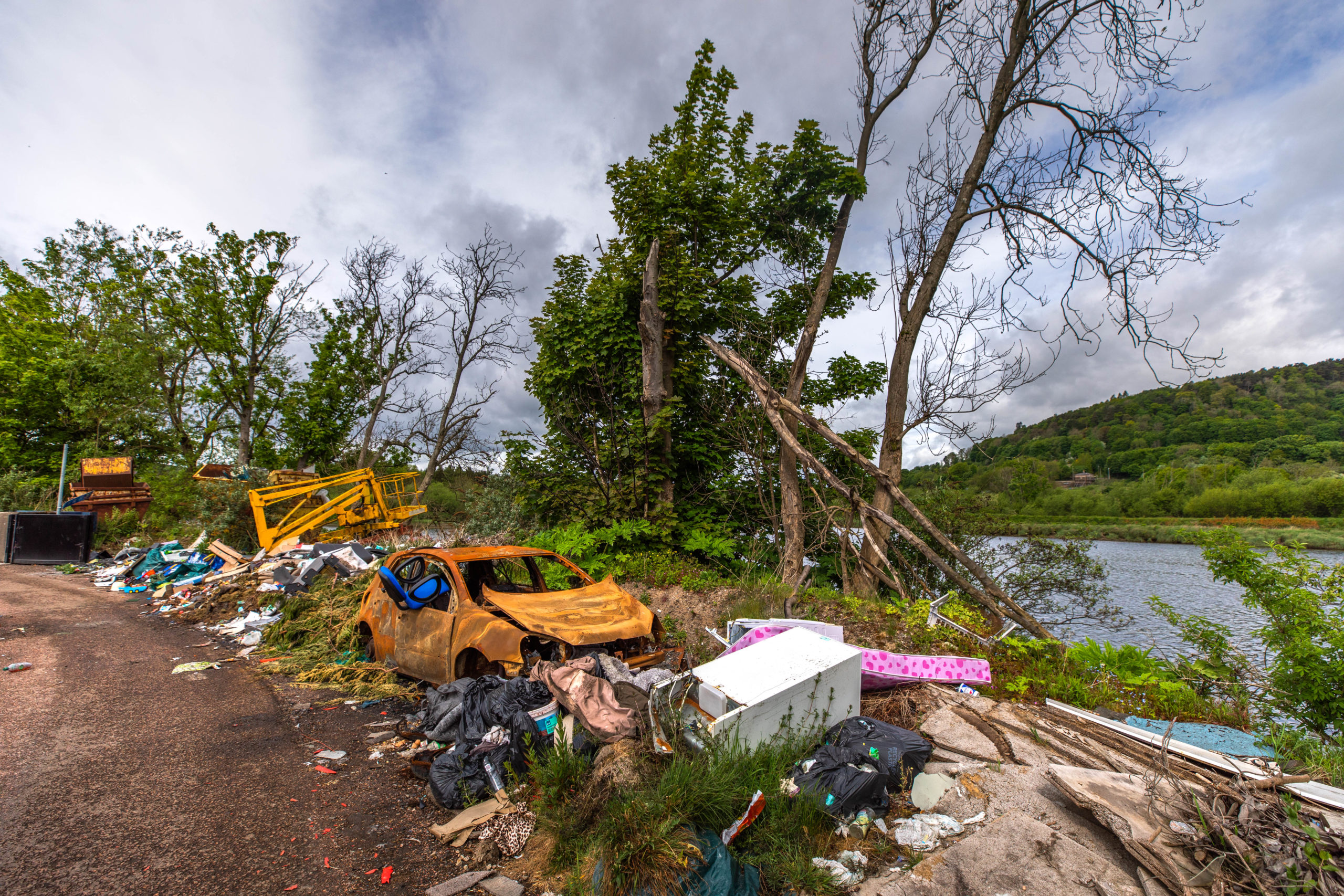 There has been a surge in illegal dumping in rural spots during lockdown.