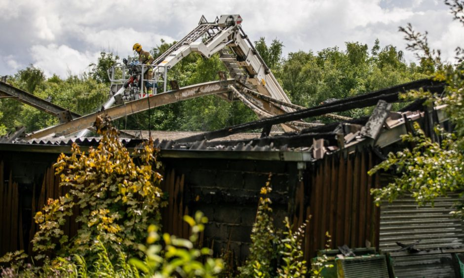 Fife Zoo following the fire. Picture by Steve Brown
