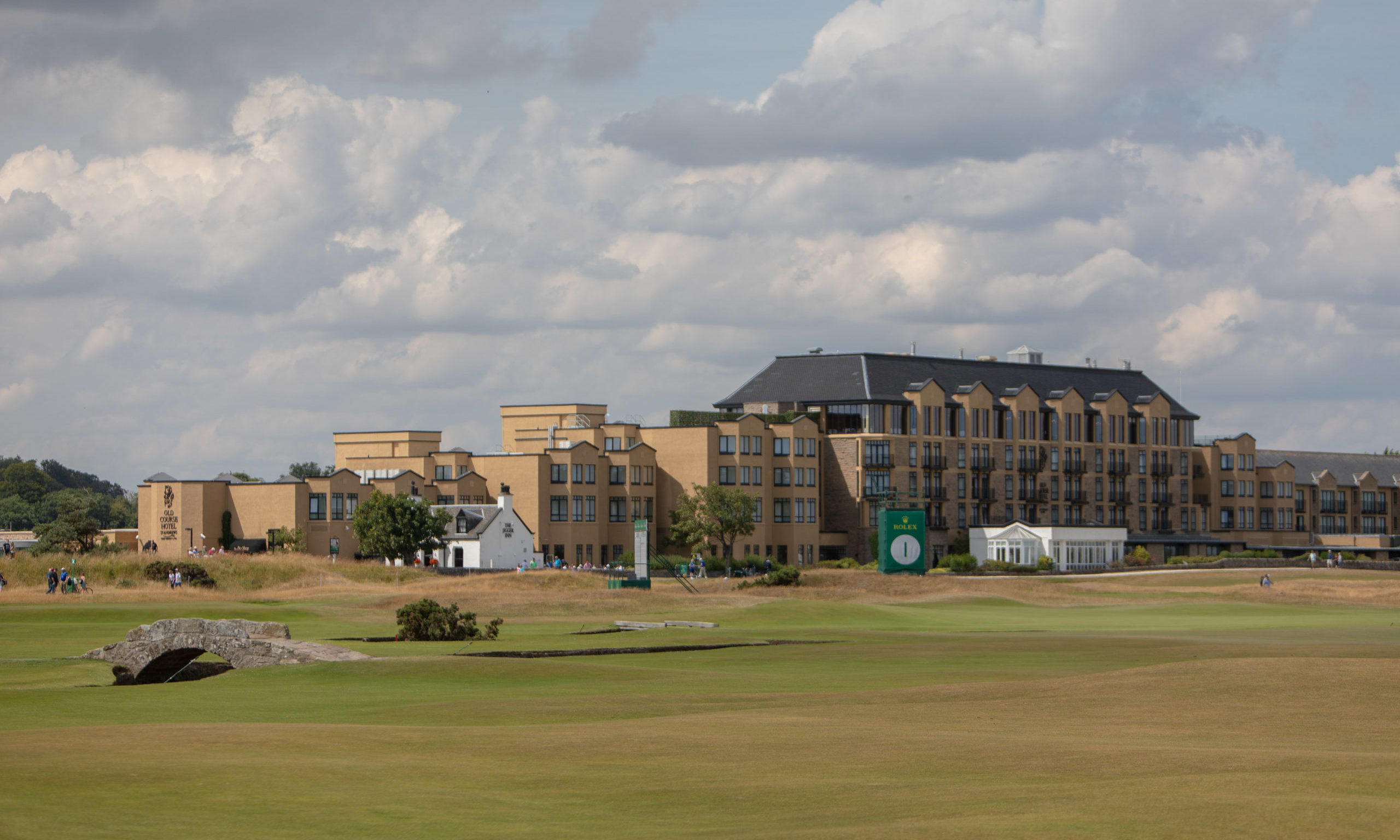 The Old Course Hotel overlooks the famous Old Coure.