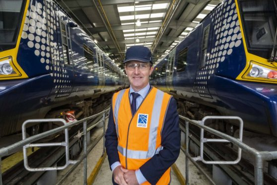 Michael Matheson unveiled the plan at a fleet depot on Tuesday morning.