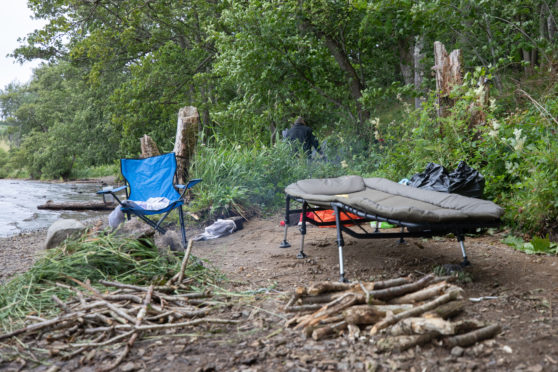 Wild camping is causing concerns at beauty spots like Clunie Loch.