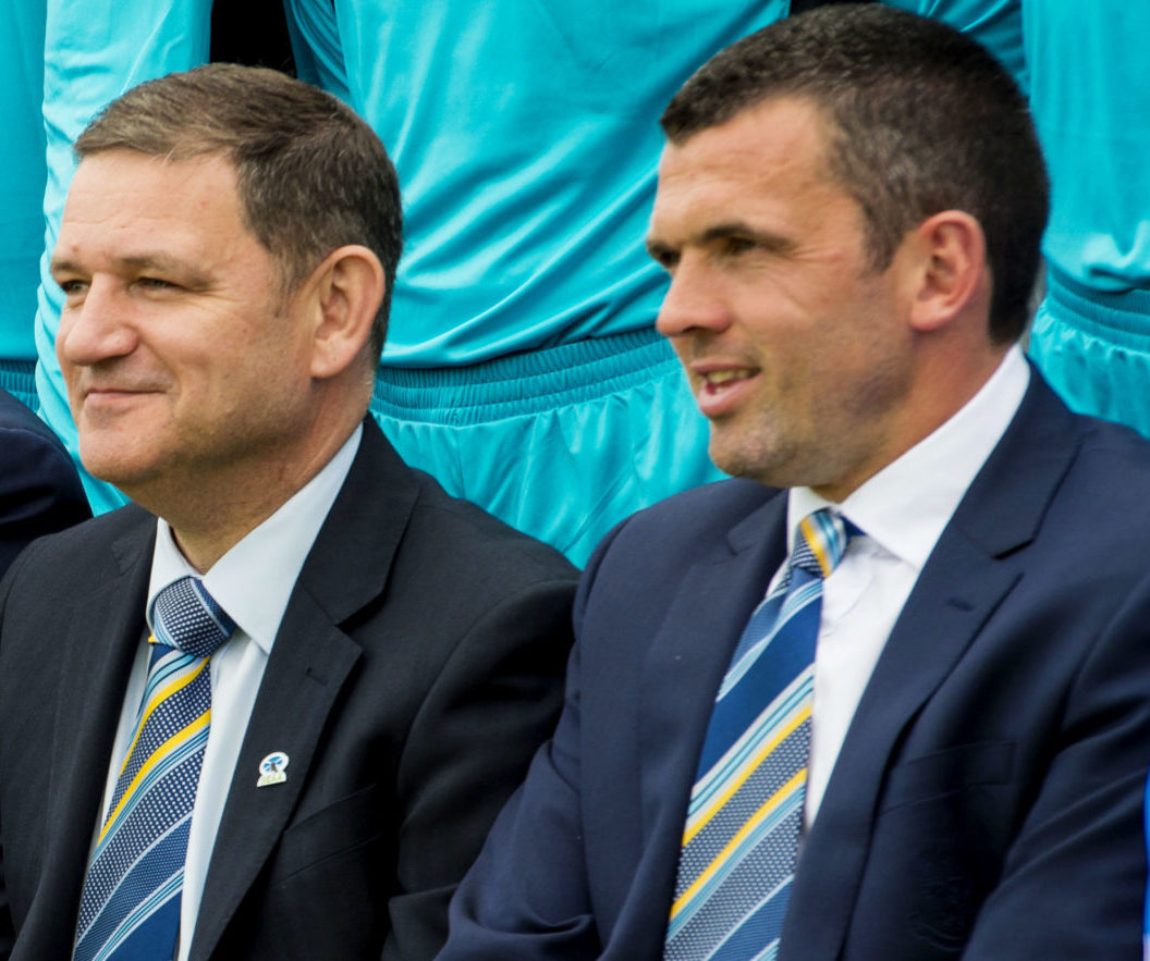 Callum Davidson and Steve Brown have been discussing transfer business.