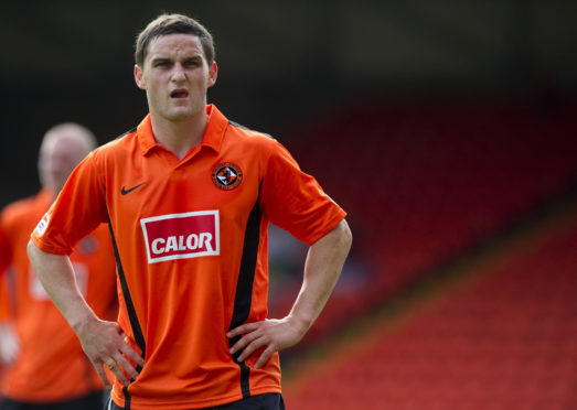 Craig Conway in action for Dundee United.