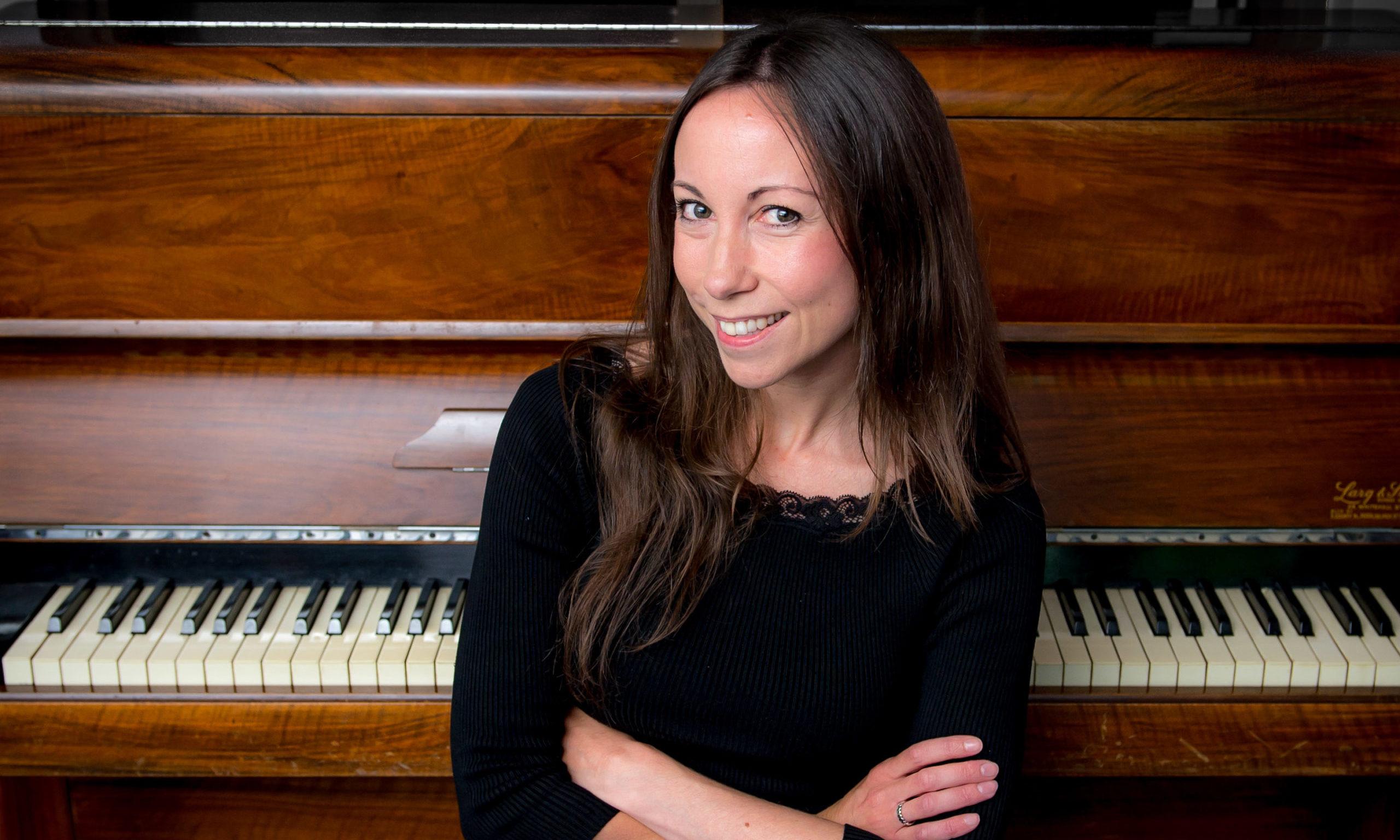 Helen MacKinnon at piano