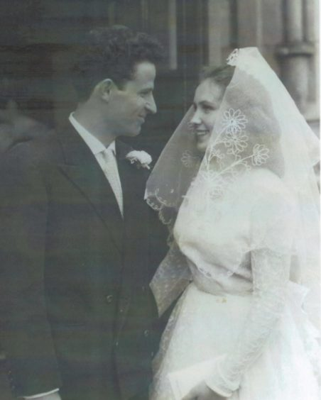 Betty and Peppino on their wedding day.