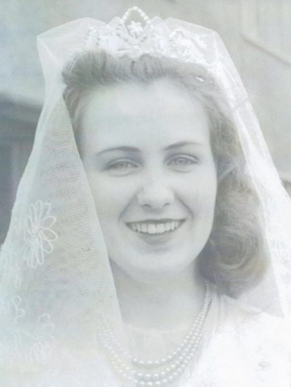 Betty on the wedding day.