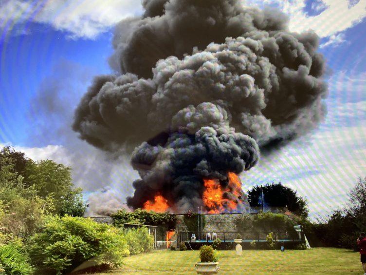 The Rosemount Farm inferno.