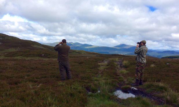 Keepers searching the Loch Tay area.