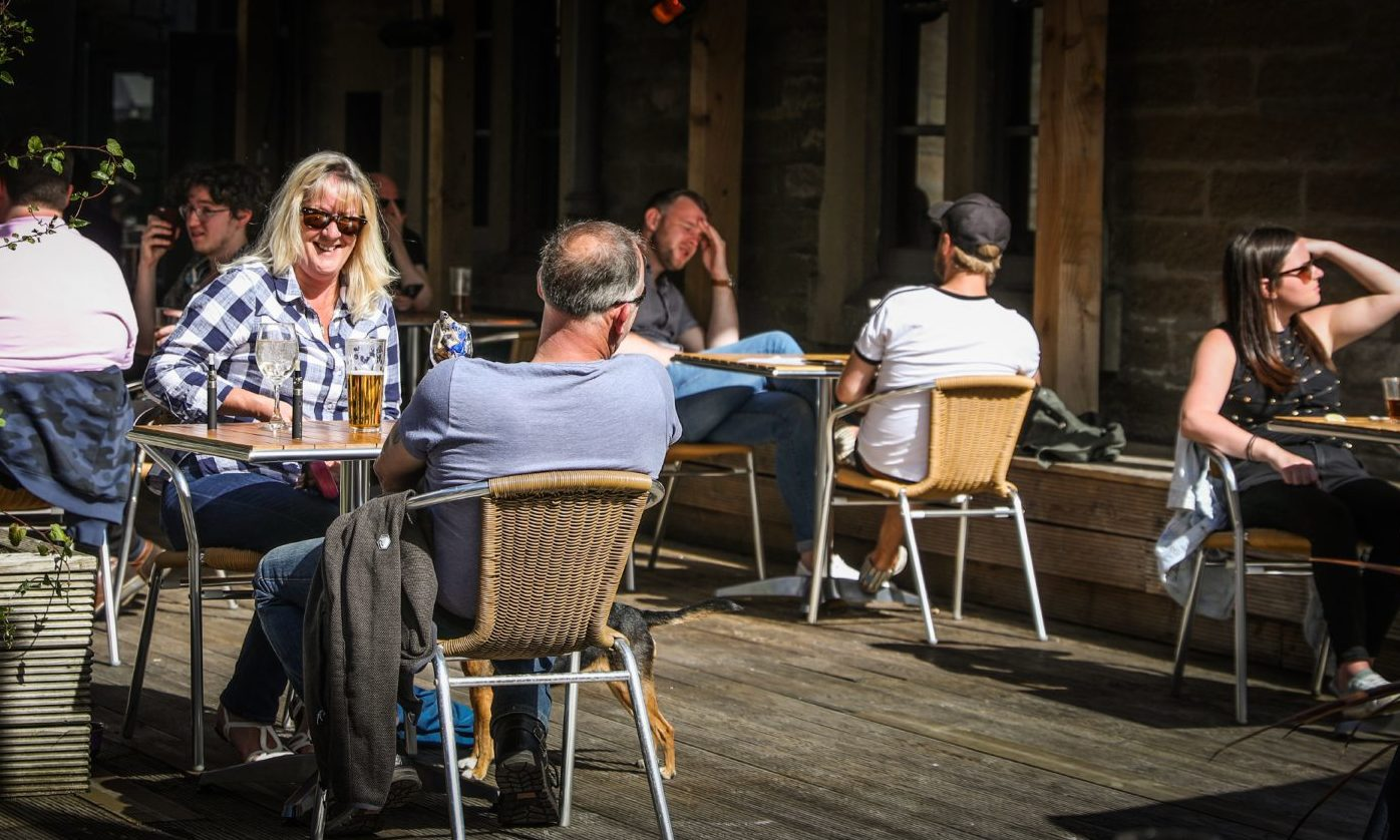 Beer gardens, like this one at Duke's Corner in Dundee, will be allowed to stay open until 10pm under the new rules.