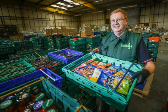 Foodbank administrator John Thompson fears for the future