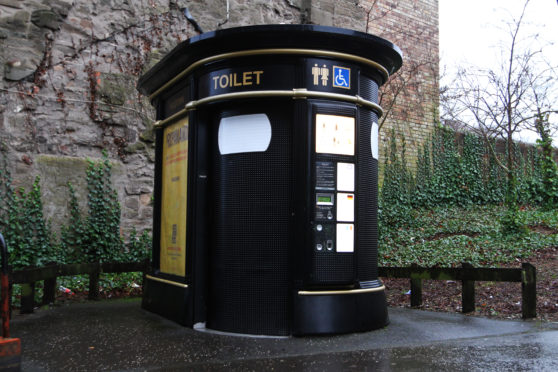 A public toilet in Dundee