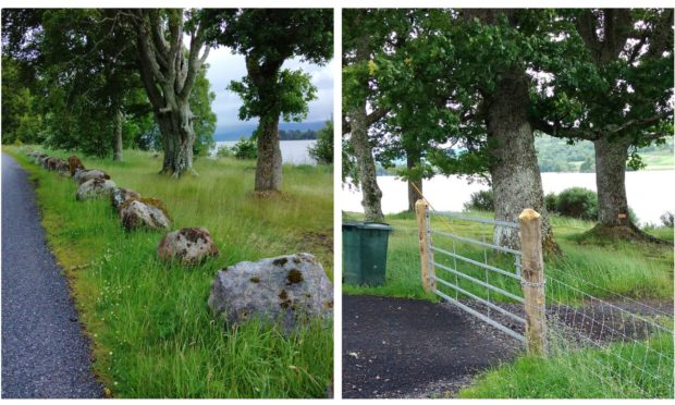 Extra barriers have been installed to deter wild campers at Loch Rannoch.