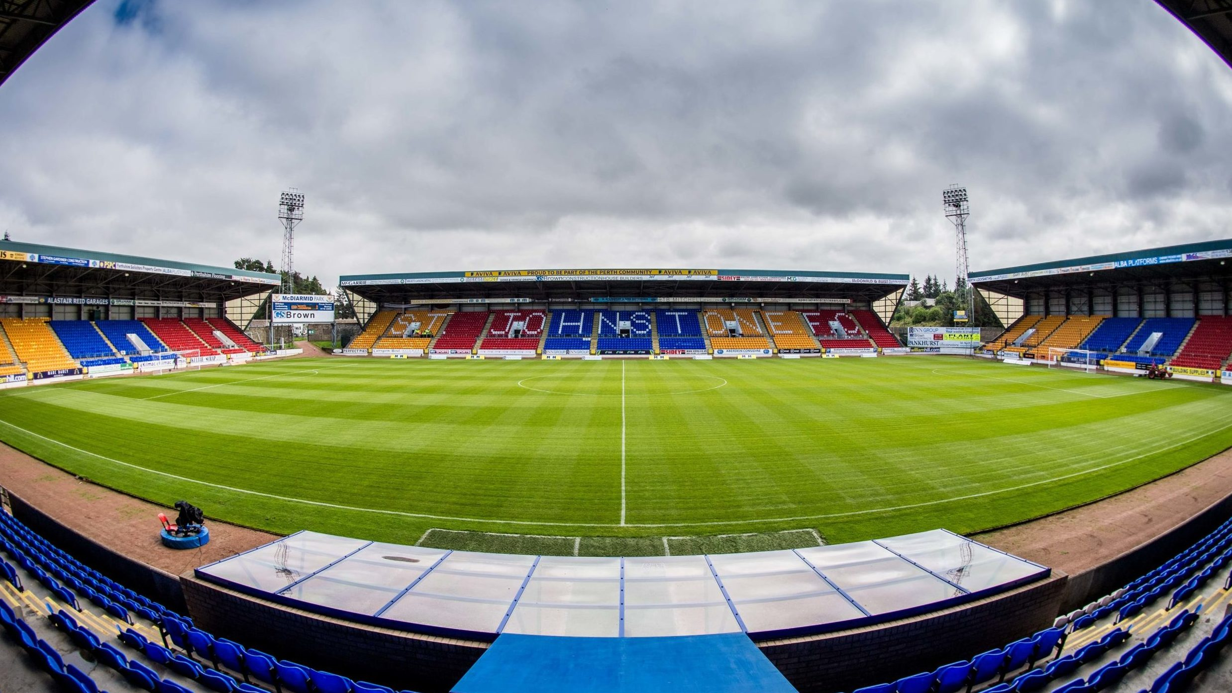 McDiarmid Park, home of St Johnstone FC.
