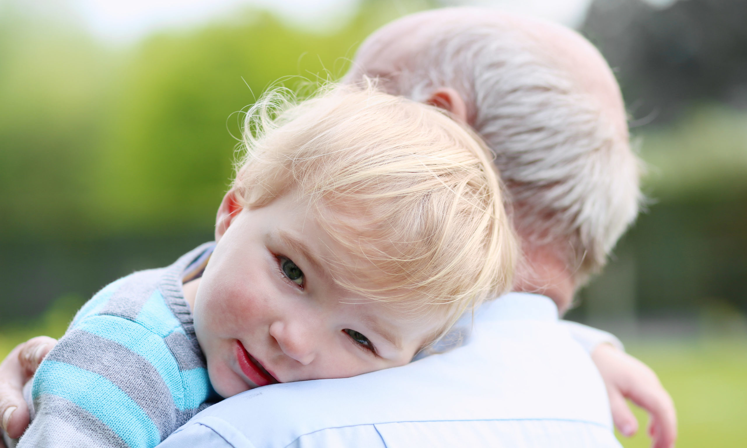 The announcement is good news for grandparents in need of a hug.