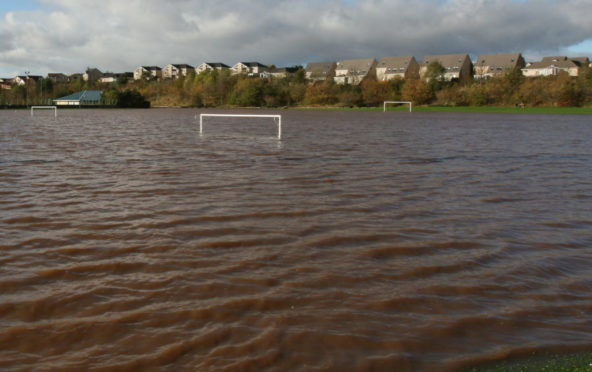 Previous flooding at Hercules Den in Arbroath.
