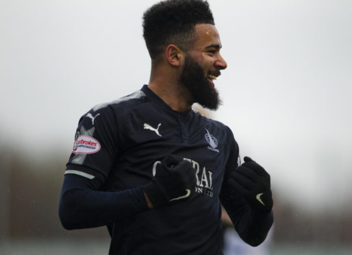Jakubiak during loan spell with Falkirk in 2018