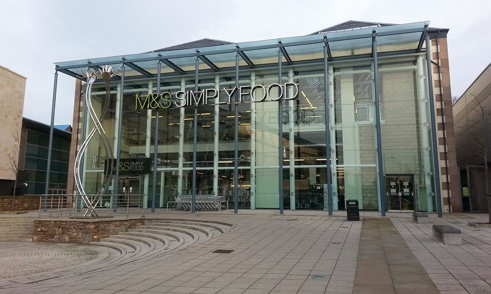 M&S Simply Food at Gallagher Retail Park in Dundee.