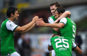 Dundee United 0-1 Hibs: Doidge strike spells first defeat for Micky Mellon's Terrors