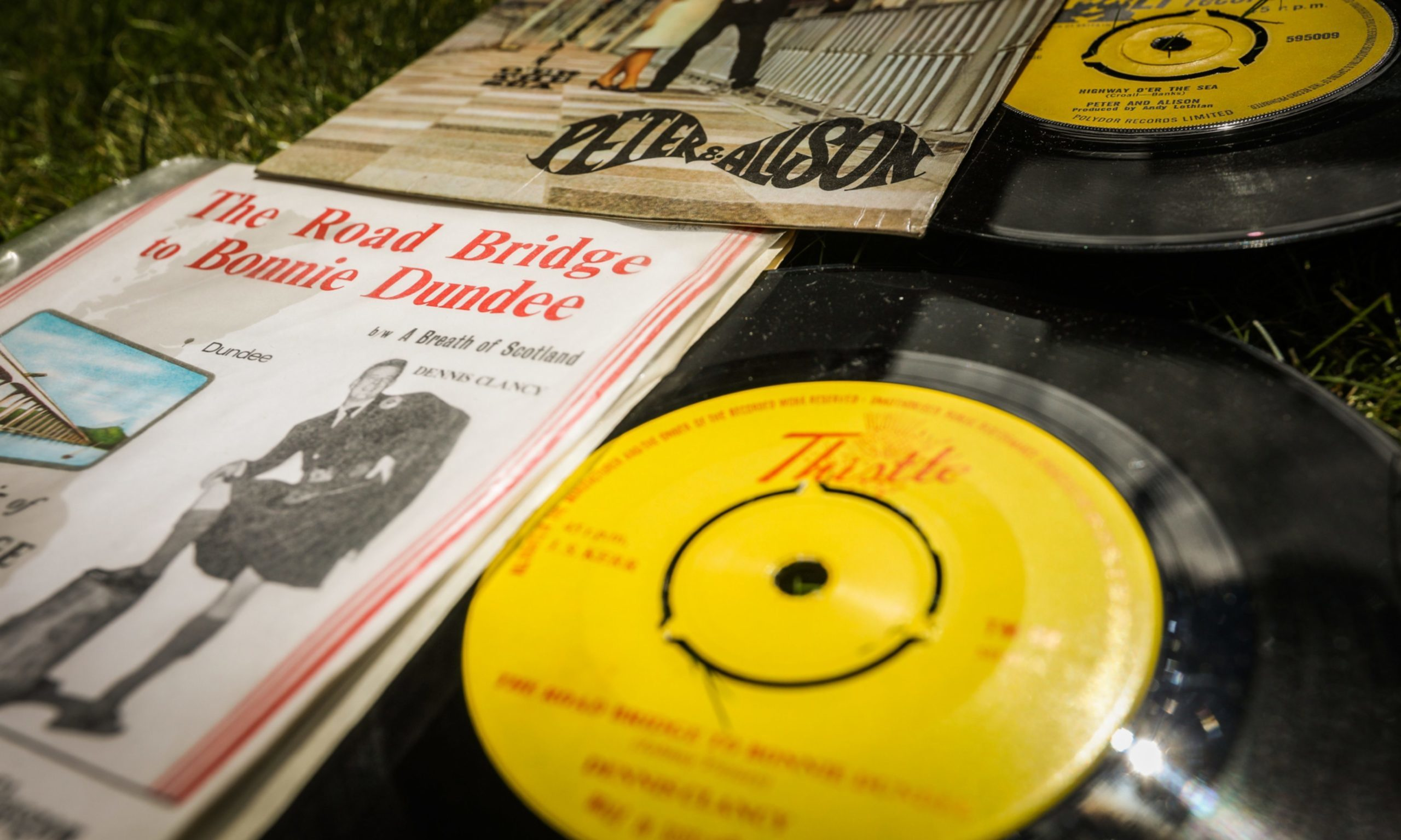 The forgotten records were discovered recently among a stash of Scottish vinyl.