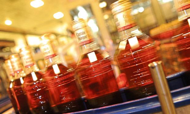 A bottling line at Diageo Leven.