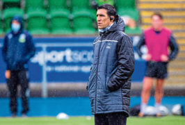 Kelly Brown on his first day at his new job as Glasgow Warriors' forwards coach.