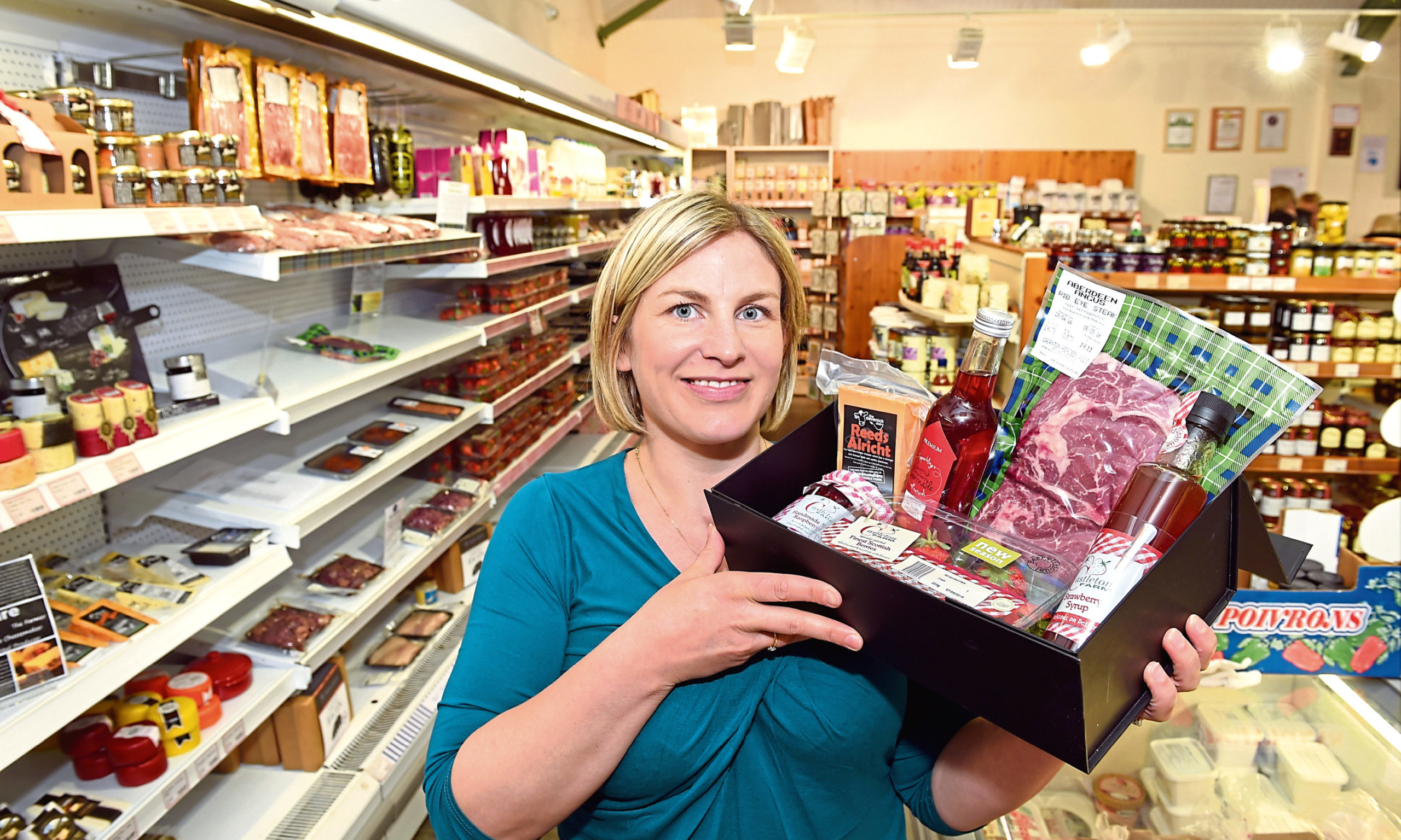 Anna Mitchell at Castleton Farm shop. owned by Ross and Anna Mitchell. Farm shop. Picture: Kevin Emslie.