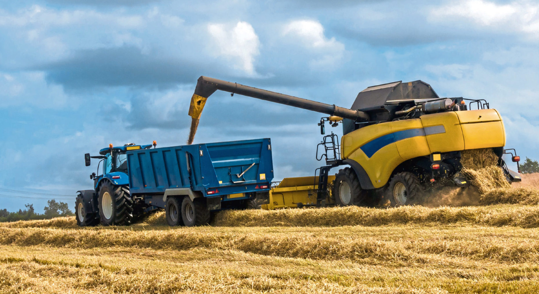 Combines are having to dodge the unsettled weather this harvest season.