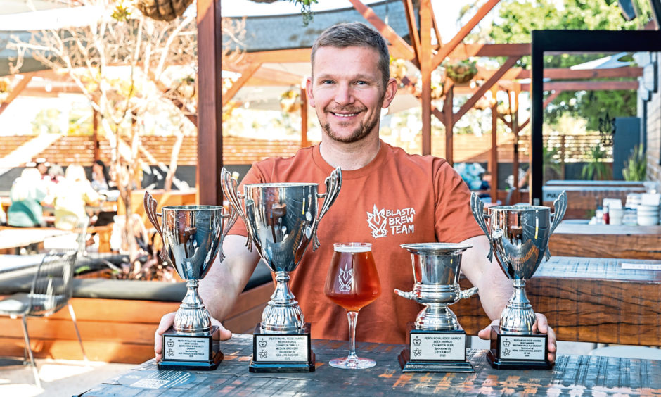 Steve Russell, 43,  turned his passion into a fast-growing business producing more than a million litres of drink every year.
