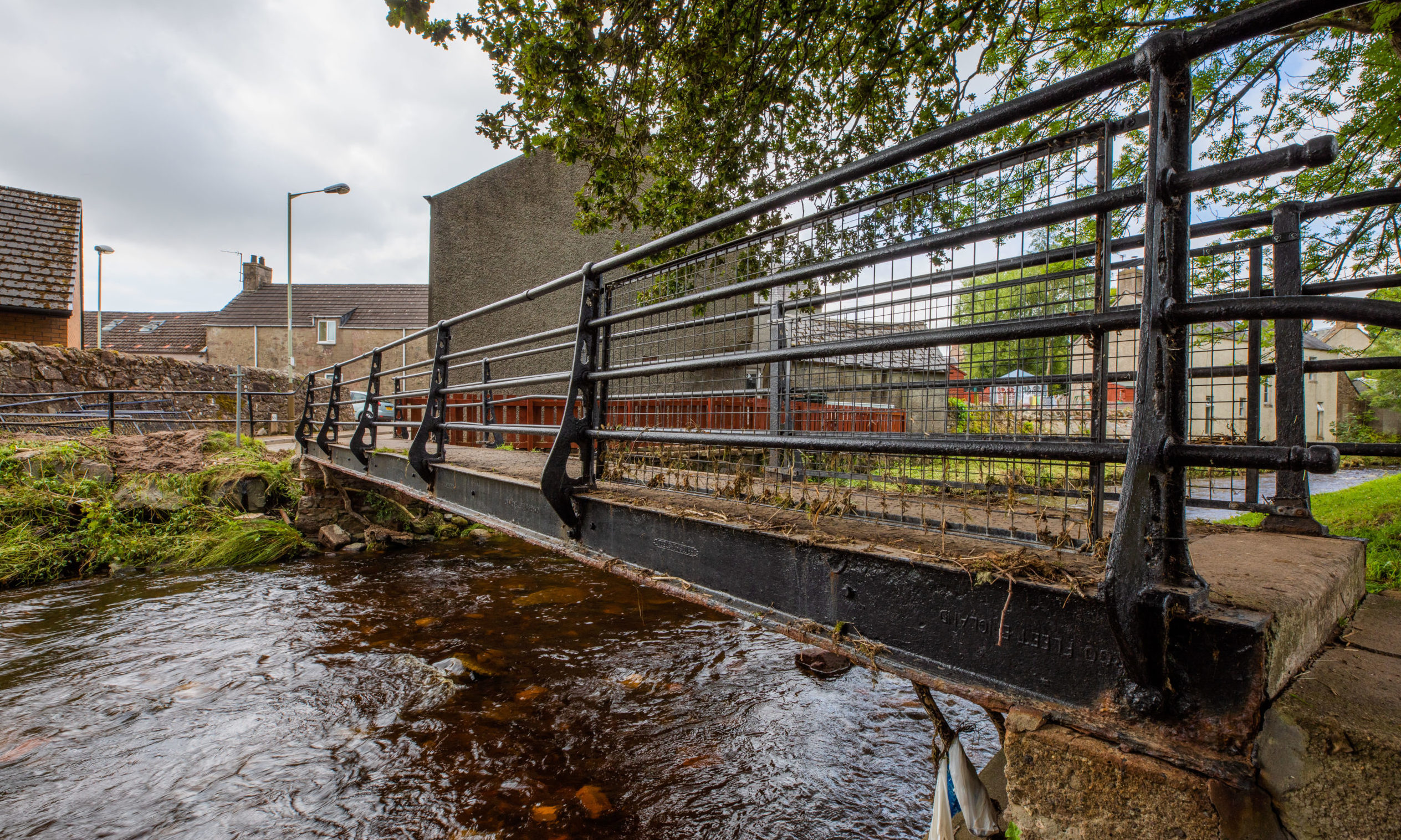 The bridge between David Street and Mill Street, with most of the mesh barriers removed