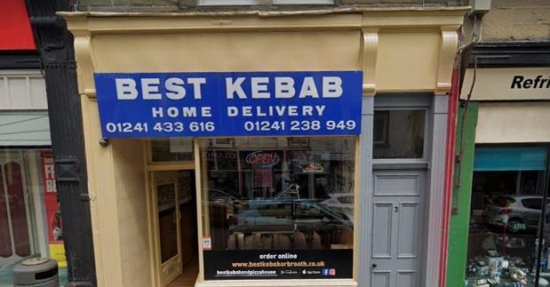 Best Kebab in Keptie Street, Arbroath (stock image).