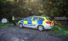 Police have closed off the woods at Cowdenbeath.