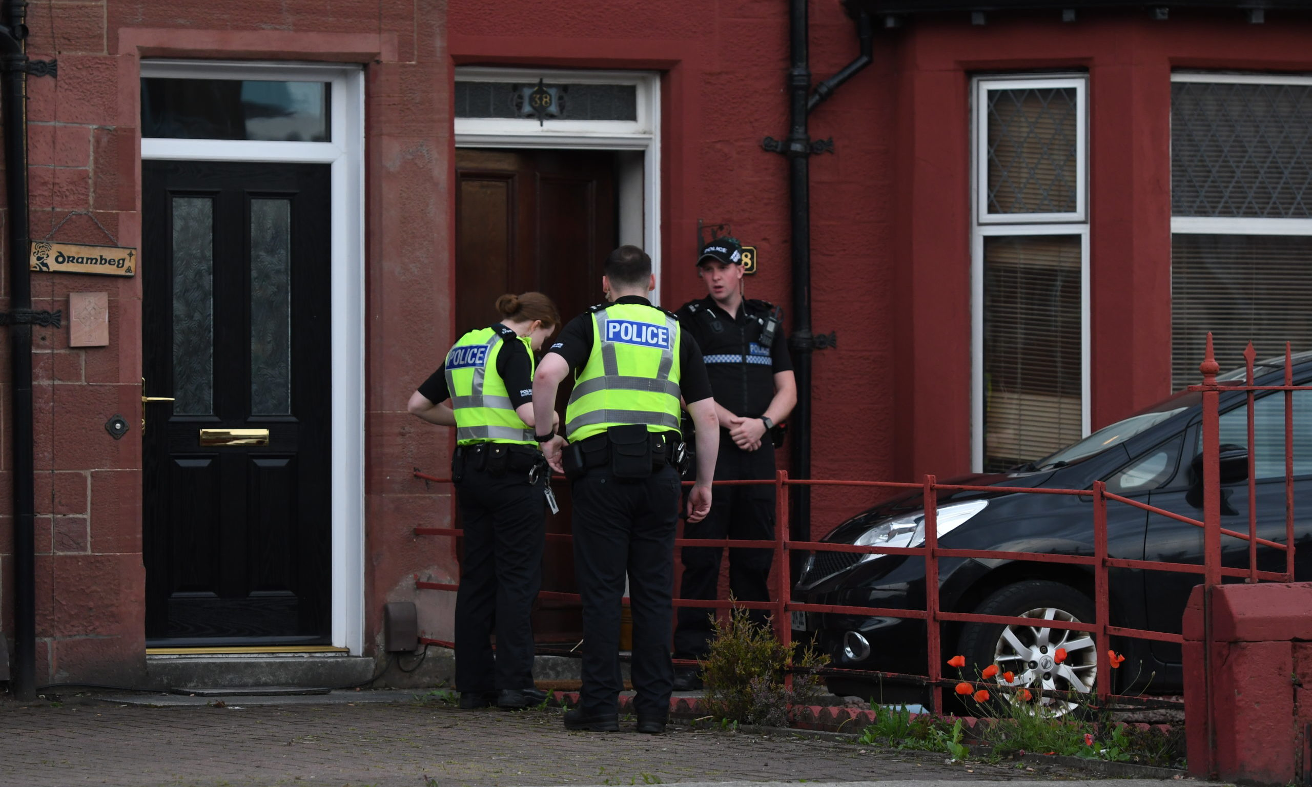 Officers remained at the property for over an hour.