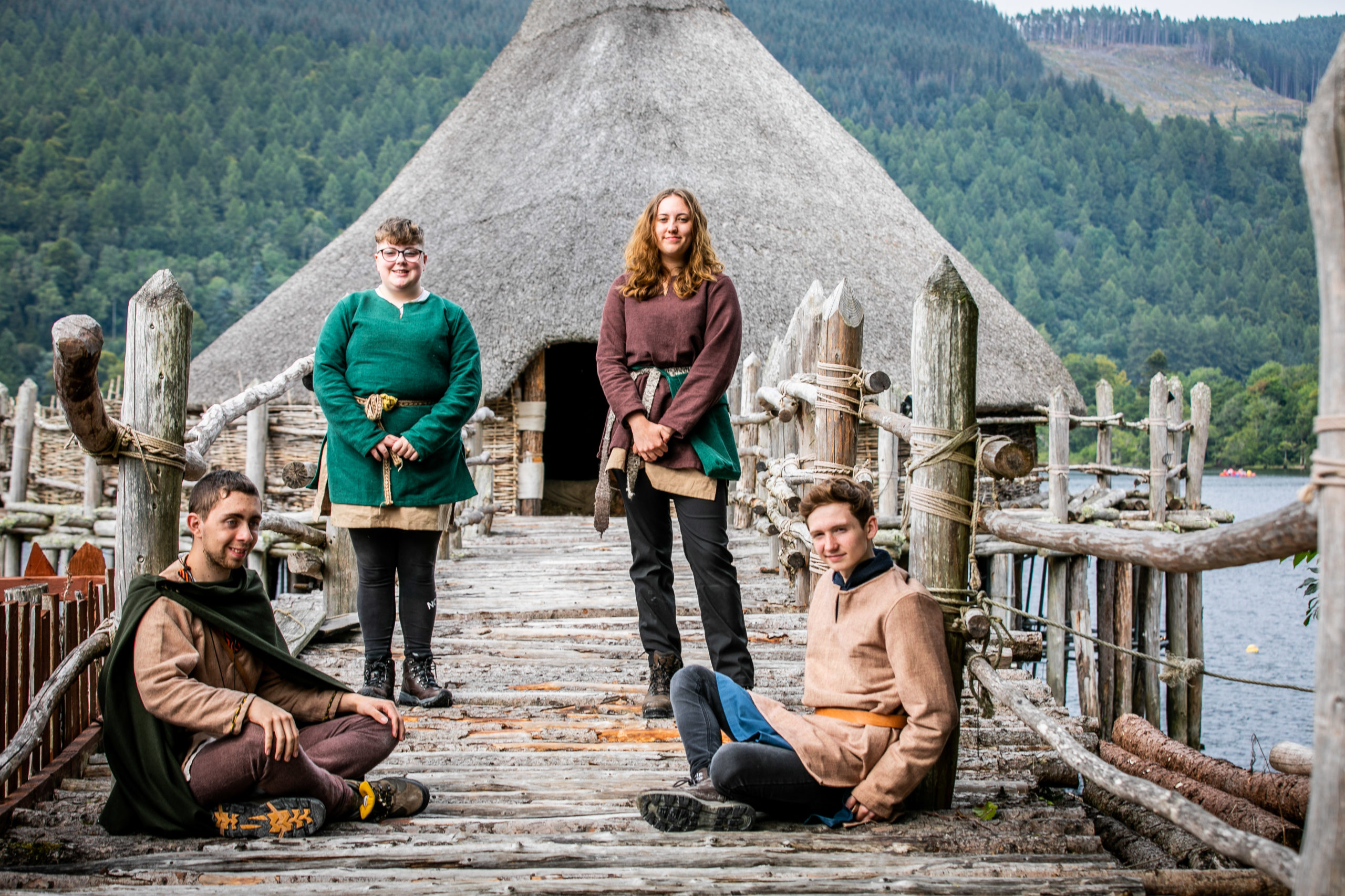 Apprentices Daisy Charles (16), Izzie Hamby (17), Toby Sloan (17) and Will Kent (18). Picture: Steve Brown.