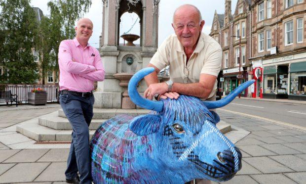 John Dewar & David Geddes -vice chairman of Crieff Highland Gathering