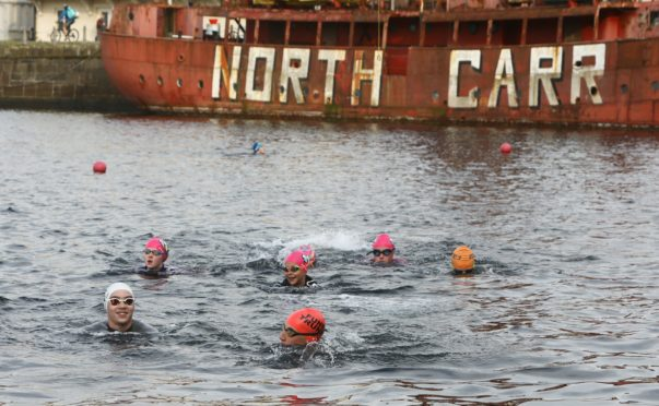 Arbroath St Thomas swimmers during their Foxlake session.
