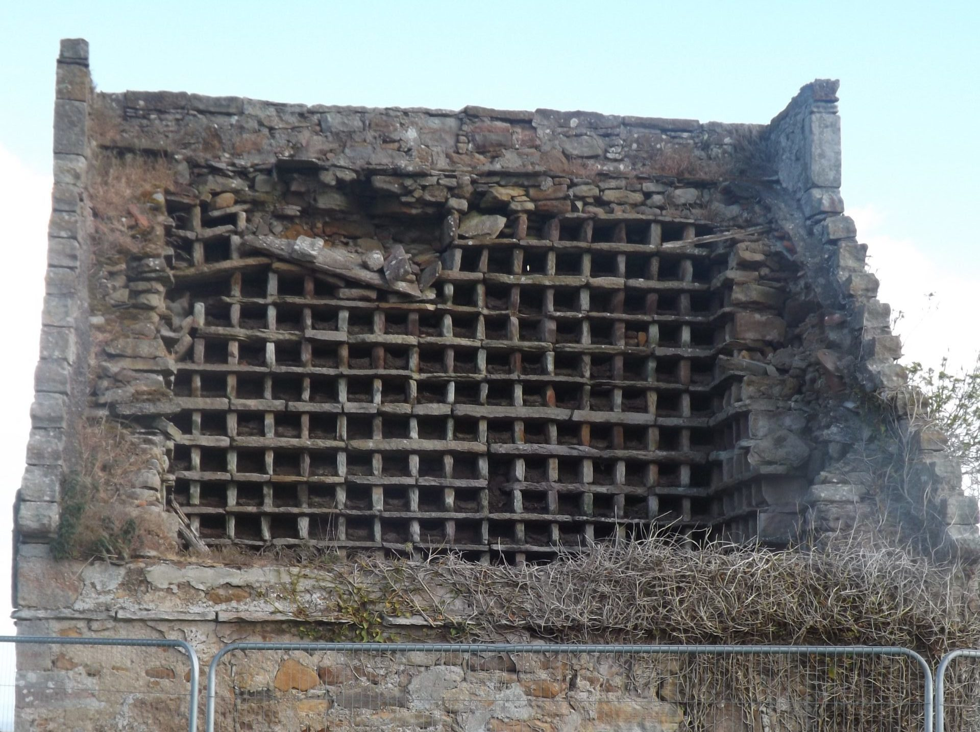 The doocot has seen better days.