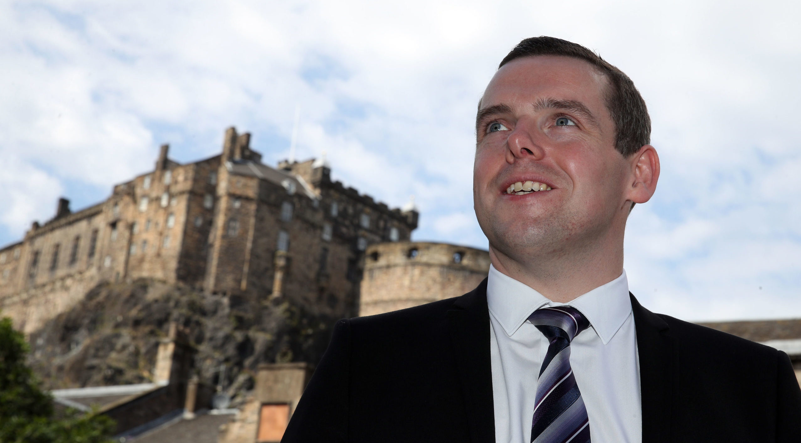 Scottish Conservative MP Douglas Ross in Edinburgh, after he confirmed he will stand for the leadership of the Scottish Conservatives.