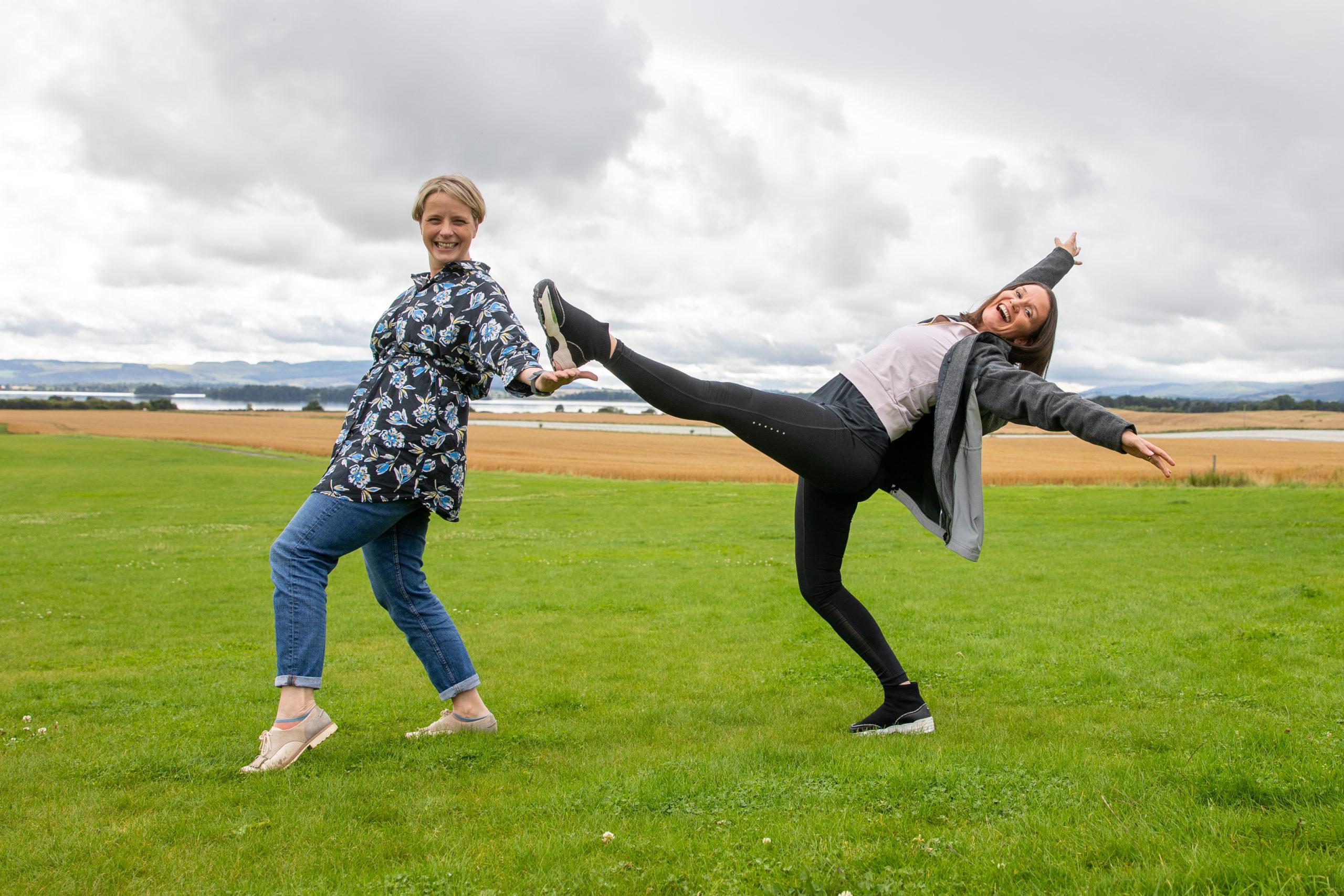 Emma Niven of Loch Leven's Larder, and Natalie Garry. Picture: Kim Cessford.