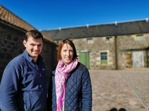Nicola and Patrick Gilmour, who took over Pratis Barns near Leven last year.